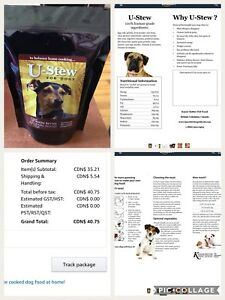 Food supplement for homemade dog food