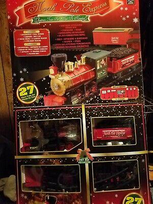 North Pole Christmas Express Train Set Plays Christmas Carols