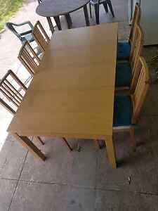 IKEA oak extendable table & 6x matching chairs Marrickville Marrickville Area Preview