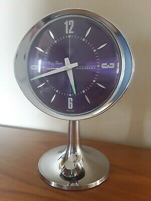 60s 70s Vintage Retro Purple Westclox Big Ben Repeater Alarm Clock WORKING