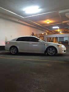 2008 pearl white Acura TL tech pckage