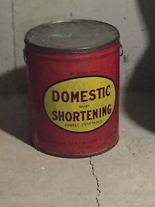 Antique Domestic Shortening Can.