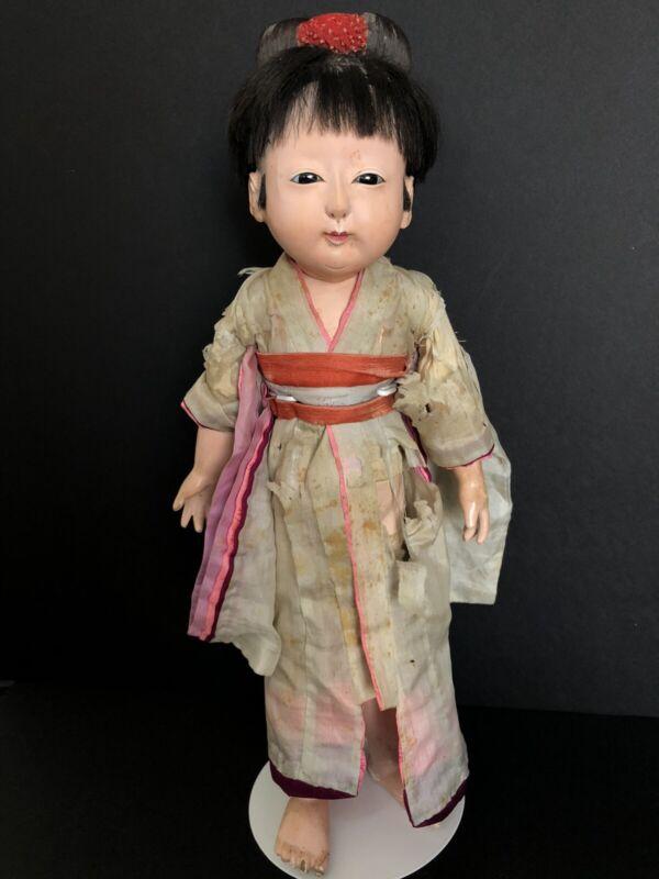 "Antique Japanese 18"" Ichimatsu Gofun/Composition Doll"