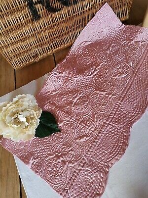 Vintage French Quilt Piece Pink Pk 7