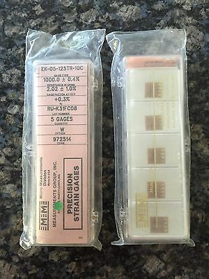 Vishay Micro Measurements Precision Strain Gage Ek-05-125tr-10c 5 Pack Option W