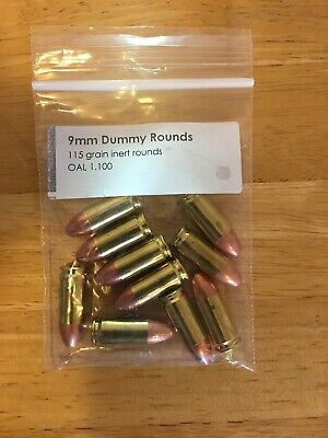 9MM LUGER SNAP CAPS DUMMY TRAINING ROUNDS *12* ROUNDS*FREE SHIPPING***