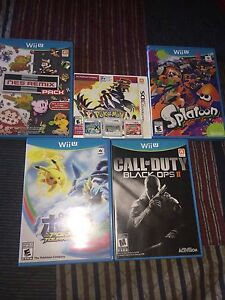 Wii u and 3ds games