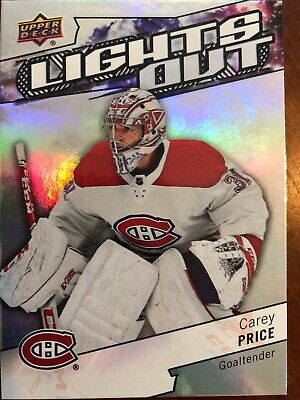 18-19 UD Overtime Lights Out #LO-12 Carey Price