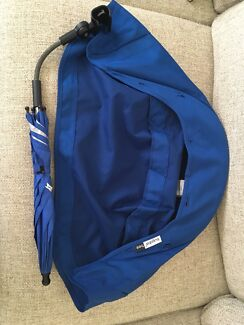 Bugaboo new blue canopy and matching umbrella/parasol