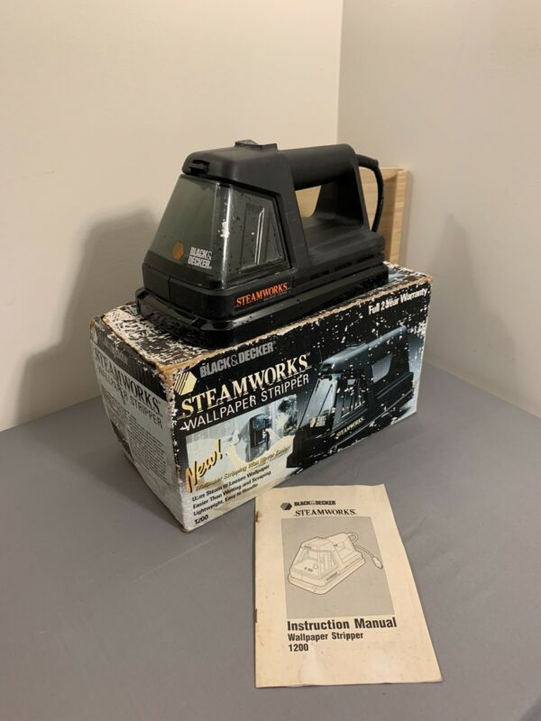 Black & Decker Steamworks 1200 Wallpaper Stripper, With Box ~ Tested and Steams!