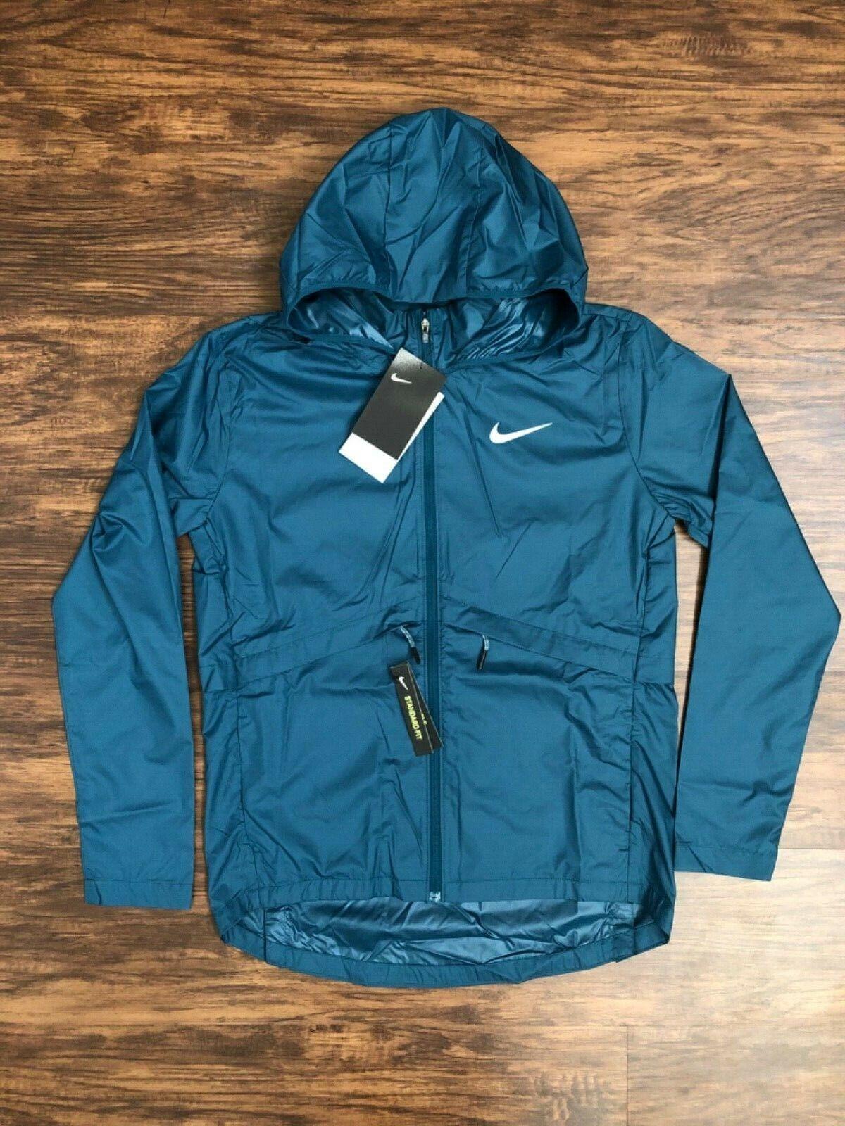 Women's Nike Essential Packable Running Rain Jacket Juniper
