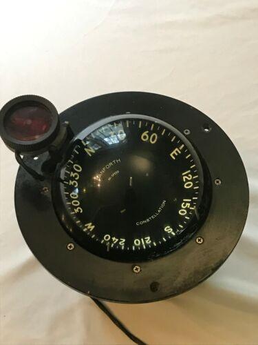 """Marine Danforth Constellation 5"""" Red Backlit Compass 12V DC"""