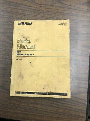 Caterpillar 920 Wheel Loader Tractor Parts Manual Book Catalog Sn 62k7095-up Cat