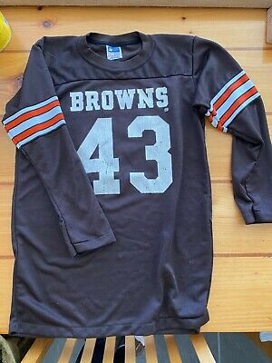 NFL Licensed Vintage Youth XL Cleveland Browns long sleeve jersey