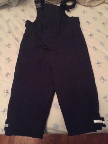 Hanna Andersson Navy Blue Size 90 Snowpants Bib Overalls Snowsuit--EXC++