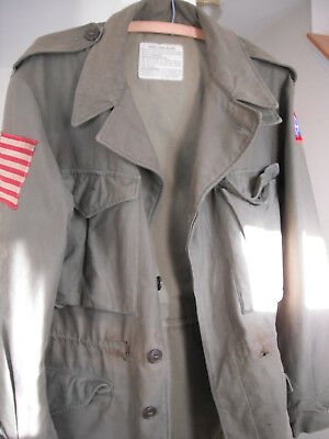 WW2 82nd AIRBORNE PARATROOP M-43 COMBAT JACKET & INVASION FLAG 307th ENGINEERS  for sale  USA