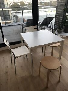 Small square dining table with 2 chairs and bonus 2 stools Rosebery Inner Sydney Preview