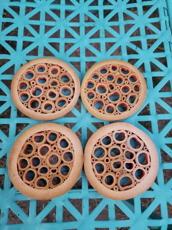 VINTAGE BAMBOO COASTERS LOT of 4 made in Japan