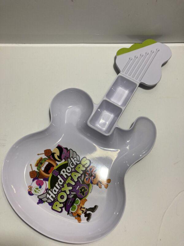 Roxtars Hard Rock Cafe Melamine Guitar Shaped Plate
