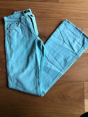 Versace Jeans Couture Ladies Turquoise Jeans - 34 Inch Leg - Bootcut