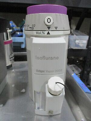 Drager Vapor 2000 Isoflurane Vaporizer Anesthesia Surgical Iso