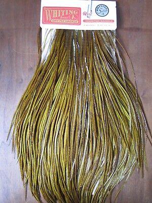 Angelsport-Köder, -Futtermittel & -Fliegen Angelsport-Artikel Fly Tying Whiting Silver Rooster Saddle White dyed Olive #B