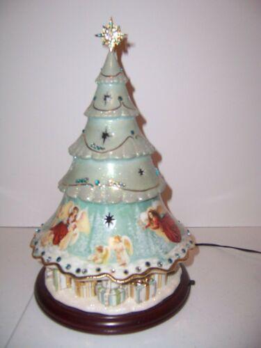 ChristmasTree Bradford Exc HeavensHolidayHelpers Angels Porcelain Musical Lights