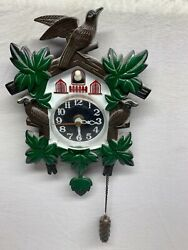 CUCKOO  Wall Clock by SHINFUKU Quartz Works and Excellent Condition