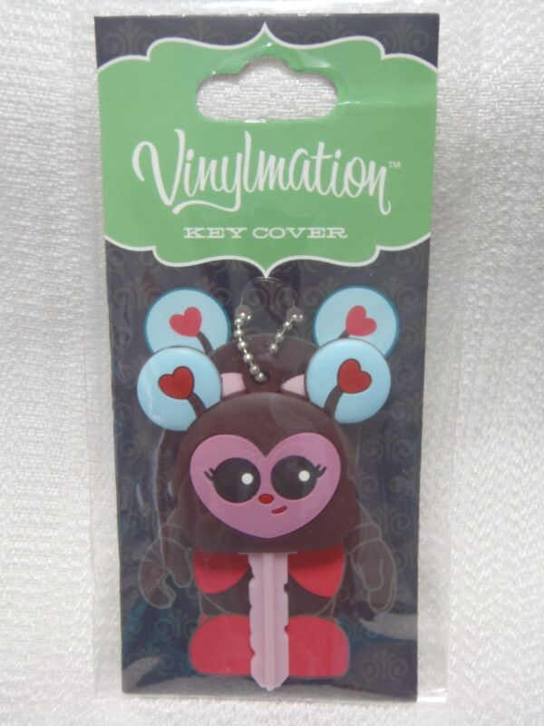 NEW! Disney Vinylmation Cutesters #1 LADYBUG KEY COVER With Chain - Sculpted PVC