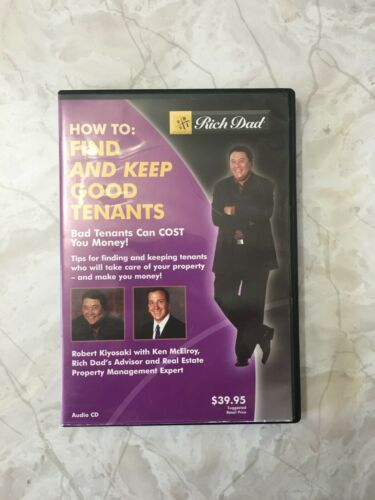 Rich Dad: How To Find And Keep Good Tenants AUDIO BOOK CD