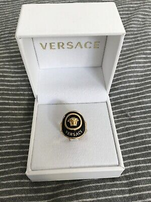 Versace Gold Medusa Ring 1.9cm Diameter