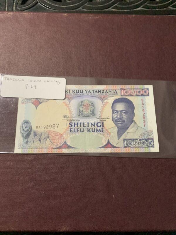 TANZANIA 10,000 10000 Shillings 1995 P-29 Lion UNC Uncirculated