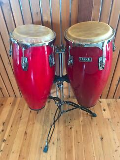 Congas 10 & 11 inch, stand & bags