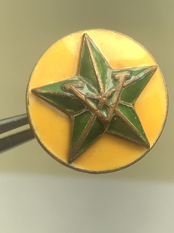 Rare, 1923-1924 Large Enameled 5 Year Pin Boy Scouts of America BSA