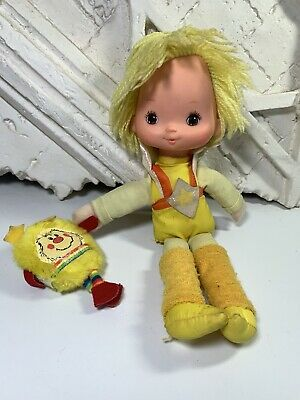 VINTAGE 1983 RAINBOW BRITE CANARY YELLOW AND SPARK DOLL ~
