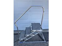 MARQUIPT aluminum portable dock steps with Folding Railing Exc. condition.