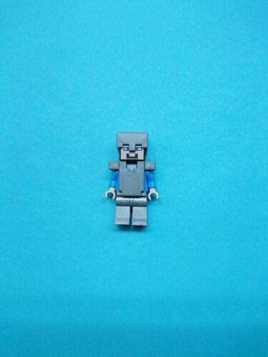 min020 New lego steve medium azure helmet and armor from set 21122 minecraft