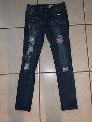 VIP Skinny Jeans Ripped Distressed Junior Size 3/4 Cute Back To School - Junioren Distressed Skinny Jeans