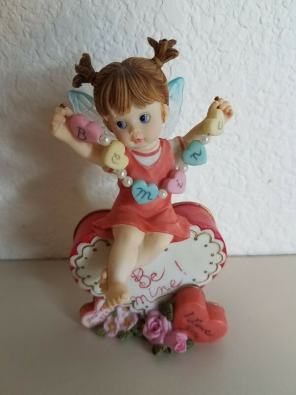 2004 My Little Kitchen Fairies Hearts on a String Fairie Enesco 120019 No Box