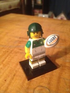 Lego minifig rugby player