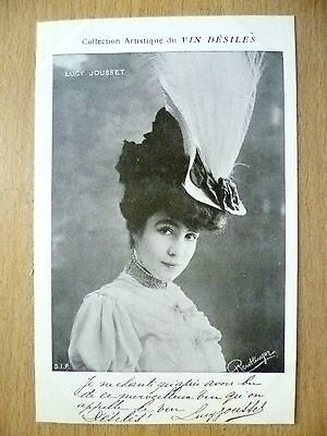 POSTCARDS of THEATRE & OPERA STARS: LUCY JOUSSET by Vin Desiles