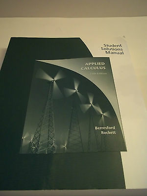 Student Solutions Manual Applied Calculus 5Th Ed  Cengage Learning 2009