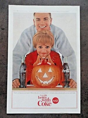 1963 Coca Cola COKE Ad - Halloween Pumpkin - that's using your pumpkin!](Coca Cola Halloween Advertising)