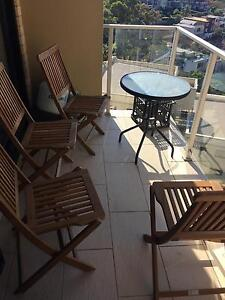 4 wooden outdoor dining chairs McMahons Point North Sydney Area Preview