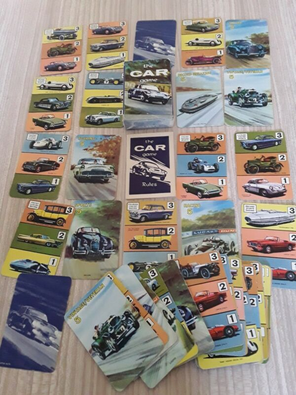 """Original Vintage Pepys card game """"The Car"""" boxed complete vgc"""