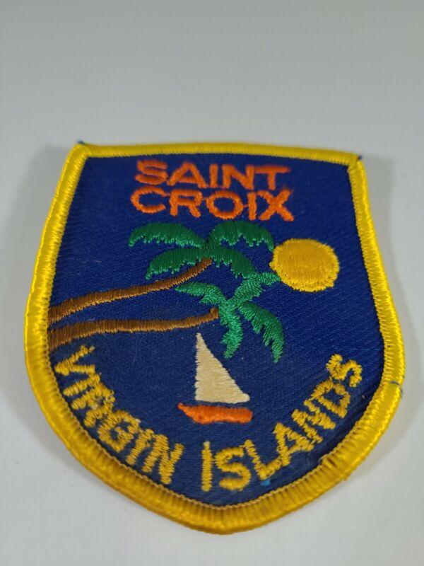 Saint Croix Virgin Islands Caribbean Souvenir Yellow Embroidered Patch Badge