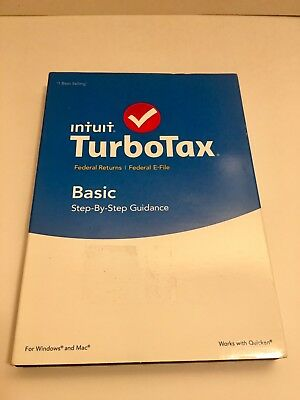 New 2015 Intuit Turbotax Basic Federal   E File Disc Fast Free Shipping