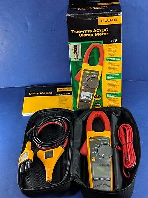 New Fluke 376 Trms Acdc Clamp Meter Original Box Iflex Soft Case Access.