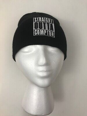 Straight Outta Compton Black Knit Hat Beanie Gangster Rap NWA Dr Dre Easy E](Gangster Beanies)
