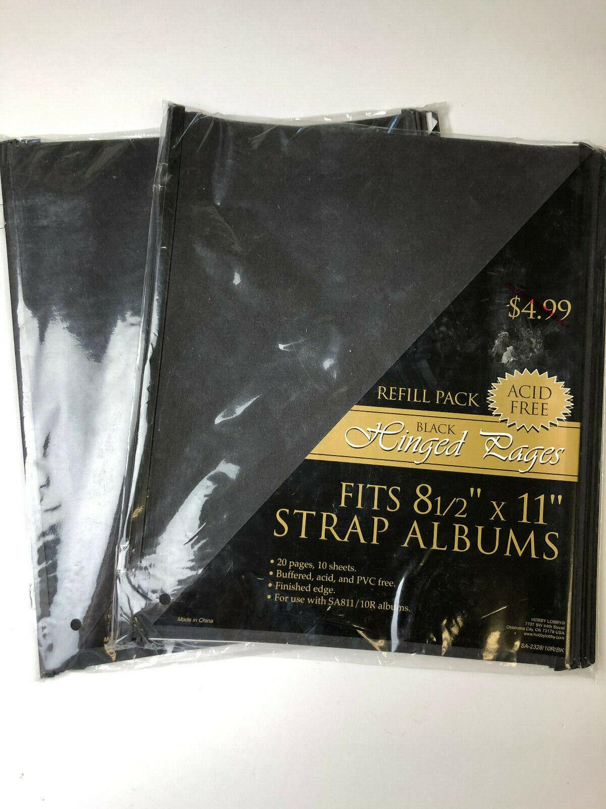 black 8 5x11 scrapbook album strap hinge